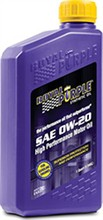 Royal Purple API Licensed Motor Oil royal purple api 0w 20