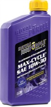 Motorcycle 10W 30 Royal Purple Oil royal purple maxcycle 10w 30